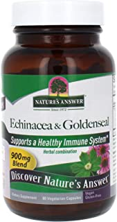 Nature's Answer Echinacea/Goldenseal (Herb & Root), Vegetarian Capsules, 60-Count