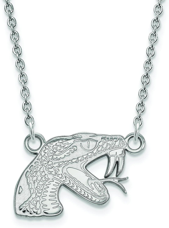 LogoArt Sterling Silver Florida Aandm University Small Pendant Chain Included