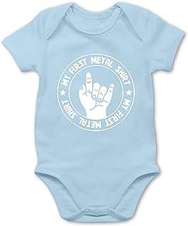 Shirtracer Strampler Motive - My First Metal Shirt - Baby Body Kurzarm für Jungen und Mädchen