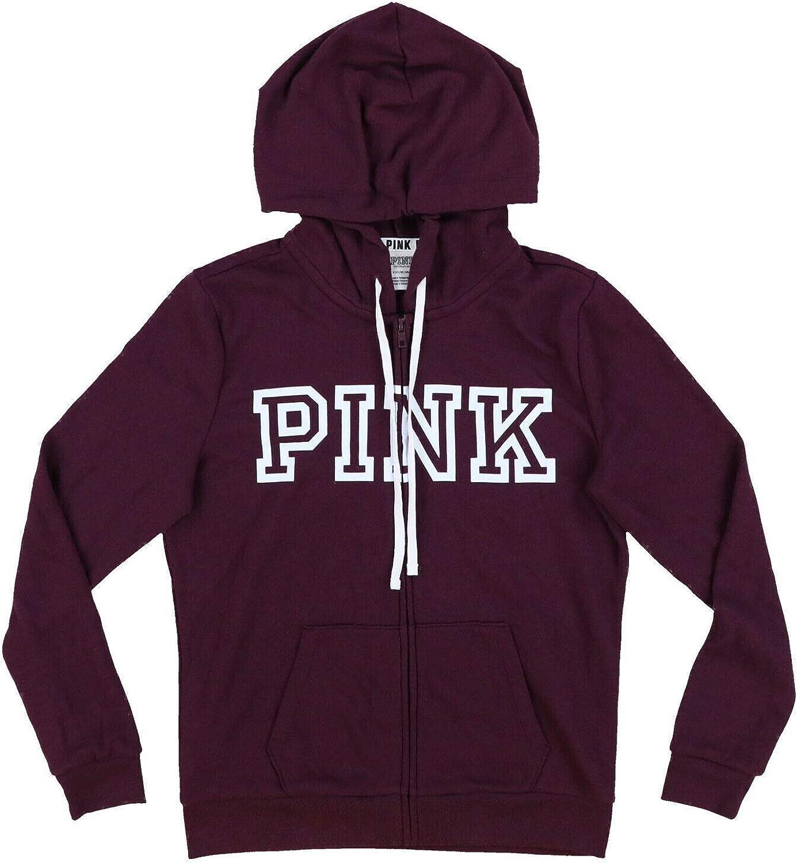 Victoria's Secret Pink Hoodie Full Zip Up Graphic Sweatshirt