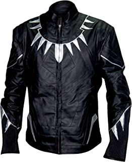 Allswish Black Panther Chadwick Boseman Real Leather Jacket