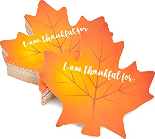 Thanksgiving Table Place Cards, Maple Leaf Cutouts (50 Count)