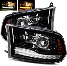 AlphaRex Polished Black For 09-18 Ram 1500/10-18 Ram 2500/3500 Dual/Quad Projector Headlights Upgrade Kit
