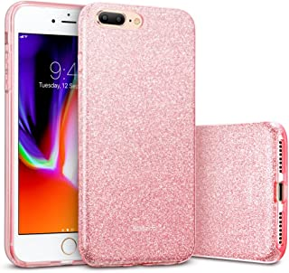 ESR iPhone 8 Plus Case, iPhone 7 Plus Case,Glitter Sparkle Bling Case [Three Layer] for Girls Women [Supports Wireless Charging] for 5.5