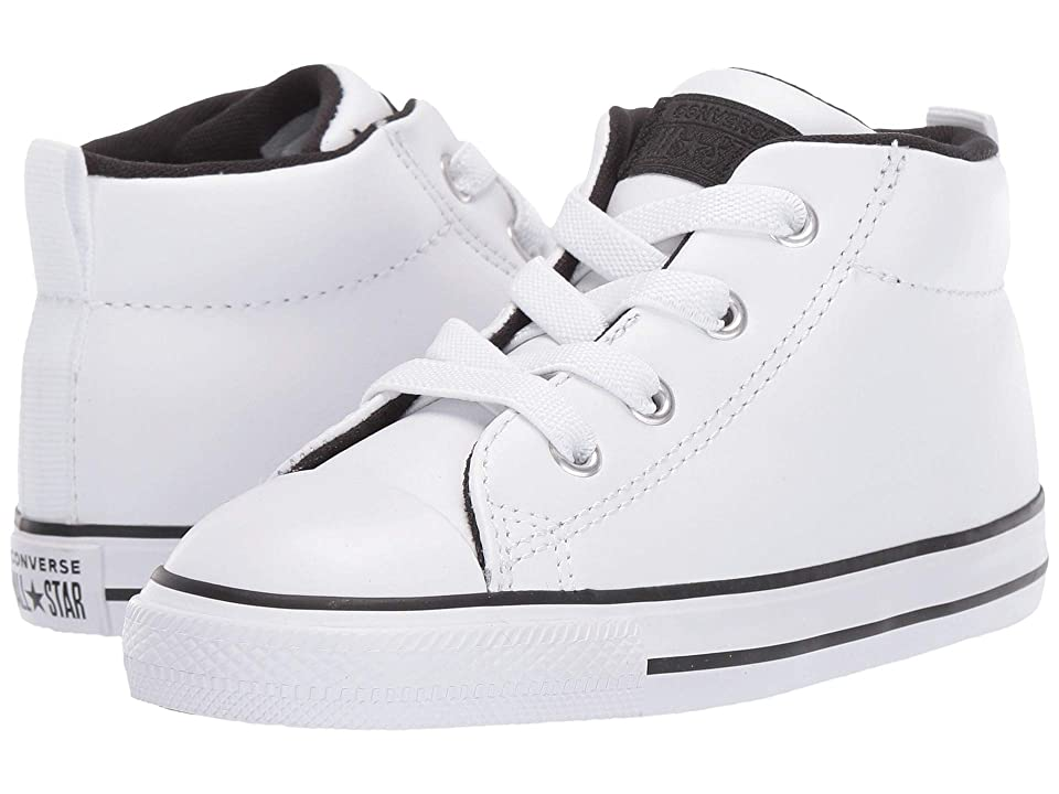 f4151de00dc Converse Kids Chuck Taylor All Star Street Mid (Infant/Toddler) (White/
