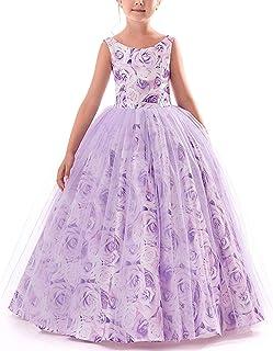 43d51c7902a TTYAOVO Girls Pageant Princess Flower Dress Kids Prom Puffy Ball Gowns