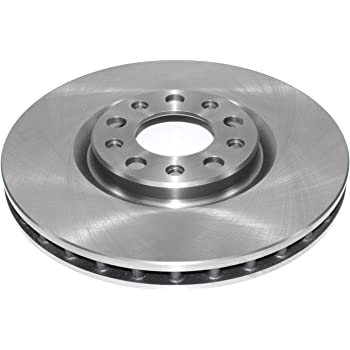 AutoShack PR880997DSZPR Front Drilled and Slotted Brake Rotor Pair Silver