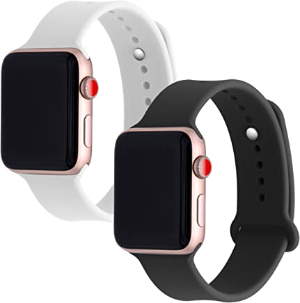 Smartcessories Sport Silicone Replacement Band for Apple Watch 38mm 42mm, Soft Strap for iWatch Series