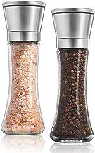 Noosa Life | Salt and Pepper Grinder Set - Premium Stainless Steel | Salt and Pepper Shakers with Adjustable Coarseness | ...