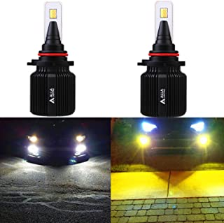 ALLA Lighting 8000Lm 9006 (HB4) LED Bulbs Dual Color Switchback 6000K White / 3000K Amber Yellow 9006 LED Fog Lights Bulbs or 9006 Headlight Bulbs Replacement for Cars Trucks (Set of 2)