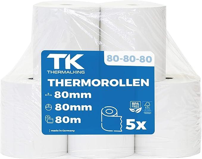 361 opinioni per Rotoli di carta termica, rotolo termo professionali termici 5 pc 80 mm x 80 mm x
