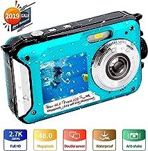 $79 » Underwater Camera FHD 2.7K 48 MP Waterproof Digital Camera Selfie Dual Screen Full-Color LCD Displays Waterproof Digital Camera for Snorkeling (806BC)