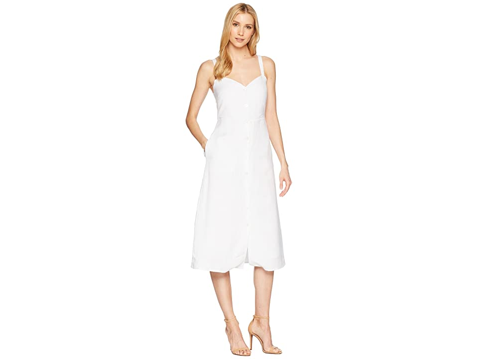Lucky Brand Button Through Dress (Lucky White) Women