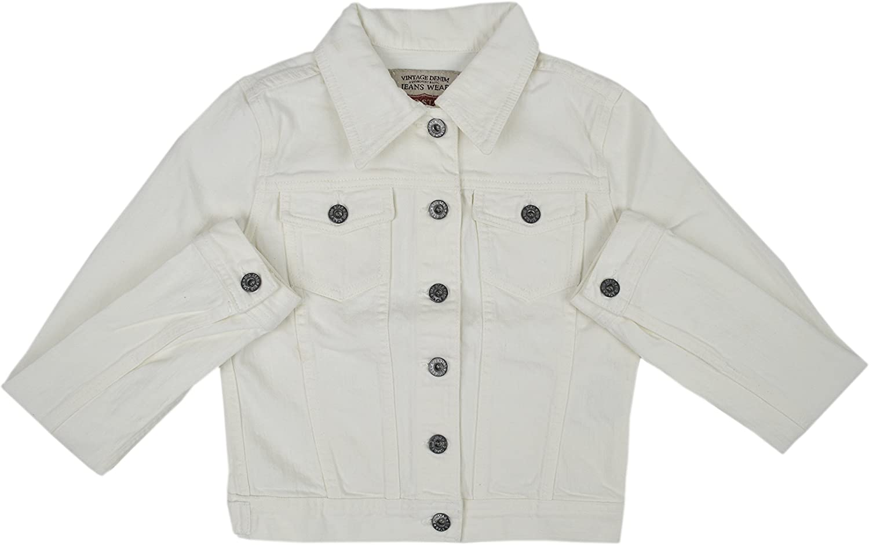 Big Lowest price challenge Star Women's Slightly Cropped White Max 79% OFF Cotton Jean Jacket Denim