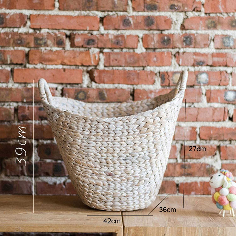 LDFN Umbrella Stand European Style Pastoral Decoration Multifunctional Decorative Flower Pot Storage Basket,White-42  36  39cm