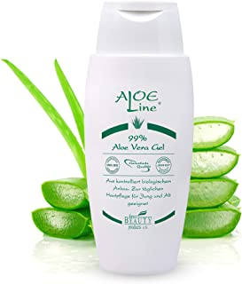 Aloe Vera Gel 99% Bio - Pflege für Gesicht, Körper, Haut & Haar - lindert Hautirritationen, hilft bei leichten Verletzungen & Verbrennungen - ohne Duft- & Farbstoffe - vegan / 1er Pack 1x 150 ml