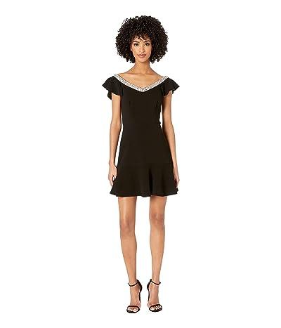 Rachel Zoe Fifi Dress w/ Embroidery (Black) Women