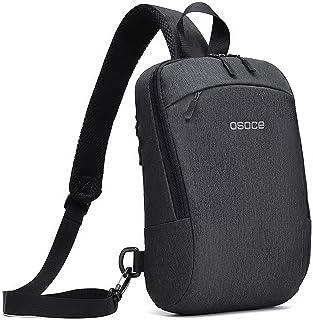 OSOCE Waterproof Anti-theft Backpack Travel Bag, Men's Shoulder Messenger Bag