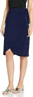 Star Vixen Women's Knee Length Sidetie Fauxwrap Skirt