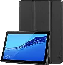 ProCase Coque Huawei T5 10, Housse Étui Case de Protection en Cuir PU, Smart Cover Multi-Angle avec Fermeture Magnétique pour Huawei MediaPad T5 10 Wi-FI Tablette Tactile 10.1 Pouces en 2018-Noir