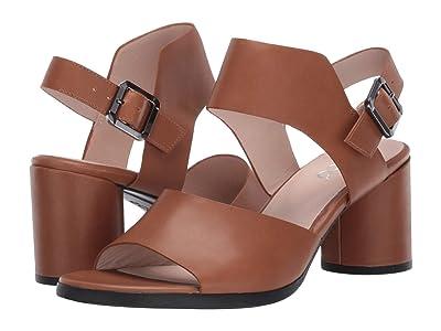 ECCO Shape 65 Block Strap Sandal (Camel Calf Leather) High Heels