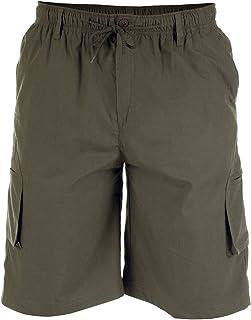 Duke D555 Kingsize Big Cargo Combat Knee Length Shorts Elasticated Waist Leg Pockets