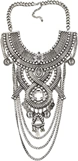 Womens Ethnic Tribal Boho Beads Coin Tassels Chain Necklaces Long Belly Dance Bohemian Jewelry