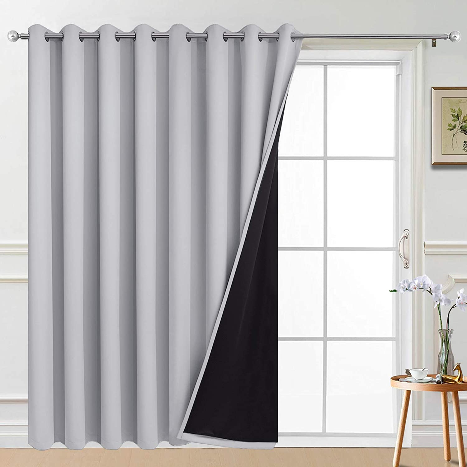 Yakamok 100% Wide Blackout Curtain 100 Sliding G x for 96 trend rank safety Inches