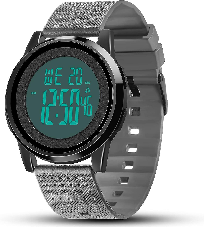 YUINK Mens Digital Watch Ultra-Thin Sports Simple Finally popular Gifts brand Wat Waterproof
