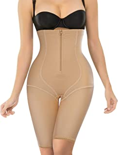 Nebility Women Waist Trainer Shapewear Zipper & Hook Body Shaper Shorts Hi-Waist Butt Lifter Comfort Thigh Slimmer