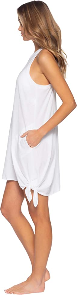 Beach Date High Neck Pocket Dress Cover-Up