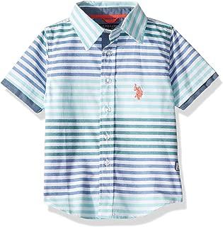 Boys' Short Sleeve Striped Sport Shirt