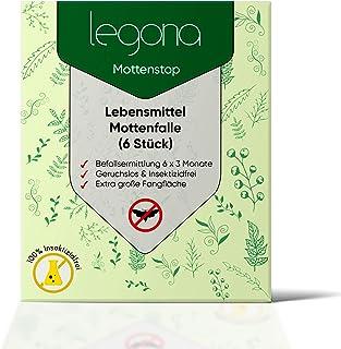 Paquete de 6 trampas para polillas de alimentos Legona: agentes efectivos para armarios y áreas ...