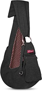 iPrimio Adjustable Dog and Cat Sling Carrier with Cellphone Carrier – Hands Free Reversible Pet Papoose Bag - Soft Pouch and Tote Design – Suitable for Puppy, Small Dogs, and Cats for Outdoor Travel