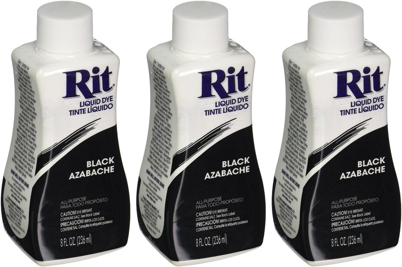 Rit Dye Liquid Fabric Black 8 Pack Max 50% New color OFF oz of 3