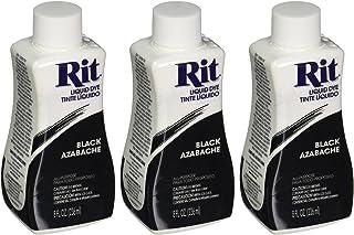 Rit Dye Liquid Fabric Dye, Black 8 oz (Pack of 3)