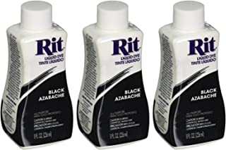 Rit Dye Liquid Fabric Dye, Black 8 oz (Pack of 3)