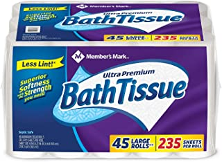 An Item of Member's Mark Ultra Premium Bath Tissue, 2-Ply Large Roll (235 sheets, 45 rolls) - Pack of 1