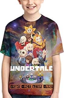 OTOPETE Kids Undertale Cool T Shirts Short Sleeve Tee Tops for Youth Boys Girls