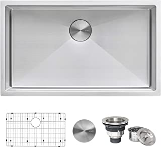 Ruvati 30-inch Undermount 16 Gauge Tight Radius Kitchen Sink Stainless Steel Single Bowl..