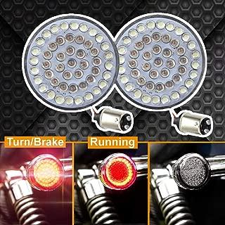 Eagle Lights 2 inch Rear LED Turn Signals For Harley Davidson Rear (1157) Turn Signals, No Smoke Lenses