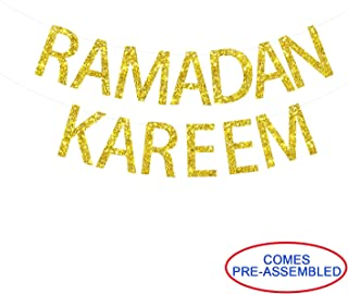 Ramadan Kareem Banner Gold Glitter - Ramadan Banner - Ramadan Mubarak Banner - Ramadan Decorations