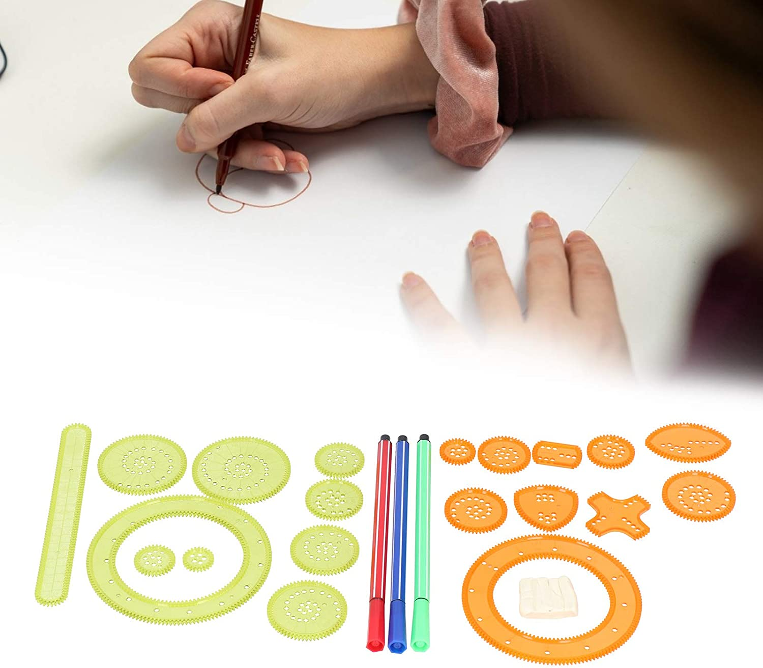 Painting Max 44% OFF Accessory Interlocking Gears Toy for Drawing Children 70% OFF Outlet