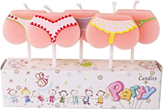 ornerx Funny Bikini Themed Birthday Cake Candles