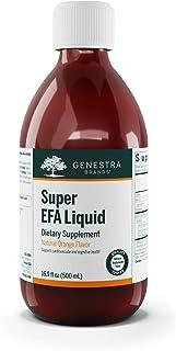 Genestra Brands - Super EFA Liquid - Supports Cardiovascular, Brain, Eyes, and Nerves - 16.9 fl. oz. - Natural Orange Flavor