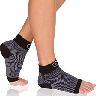 Compressions Best Ankle Sleeve Socks for Men & Women, CompressionGear Foot Sleeves Speed Up Recovery, Pain Relief of Plantar Fasciitis, Heel Spurs, Arch Pain, Foot Swelling & Ankle Injuries - 1 Pair
