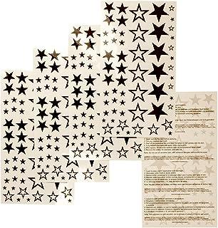 TMP 5 x Sternen Tattoos - Sternenkarte mit 58 Sternen - Star