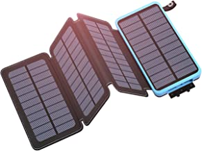 Tranmix Solar Charger 25000mAh Portable Power Bank with Dual Output Waterproof Phone Charger Compatible with Smart Phones,Tablets and More