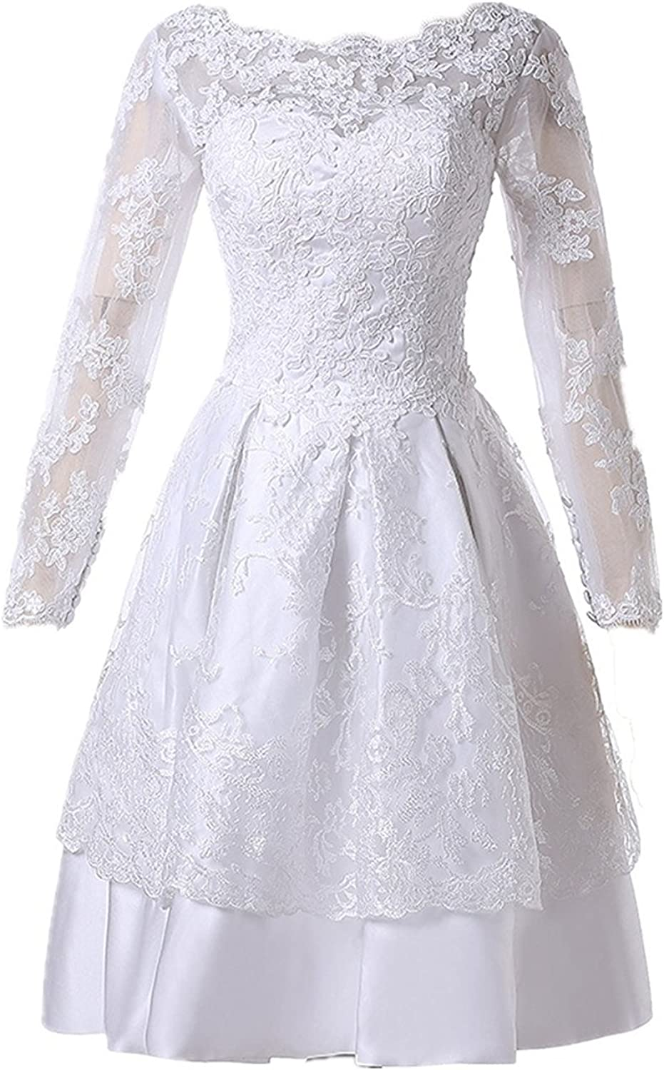 QY Bride Wedding Party Dresses Lace Bridal Gala Bridesmaid Gowns with Sleeve