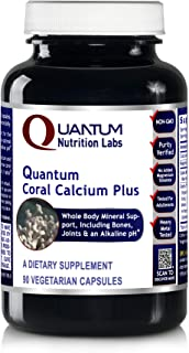 Quantum Coral Calcium Plus, 90 Capsules - pH Alkalinizing Formula and Whole Body Mineral Support, Including The Bones, Joi...